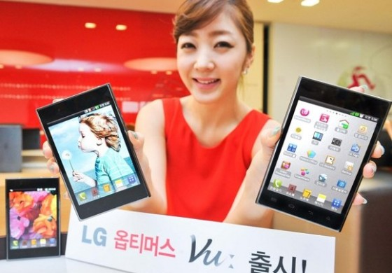 گوشی غول پیکر (فونلت) Optimus Vu2 عرضه خواهد شد