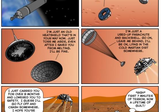 کاریکاتور مریخ نورد ناسا