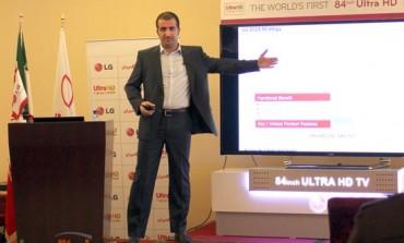 الجی نیز تلویزیون ۸۴ اینچی UHD خود را در ایران رونمایی کرد