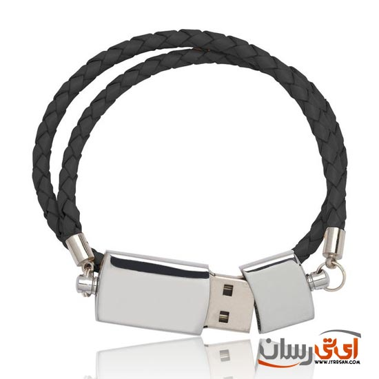Black-USB-Double-Leather-Band-Bracelet