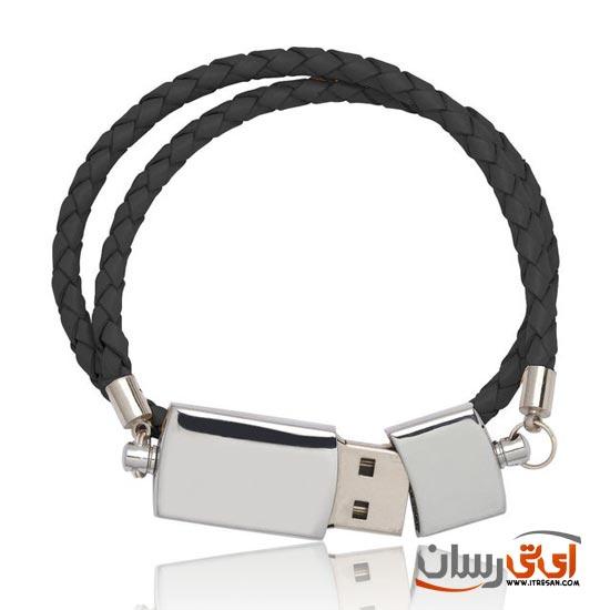 Black-USB-Double-Leather-Band-Bracelet