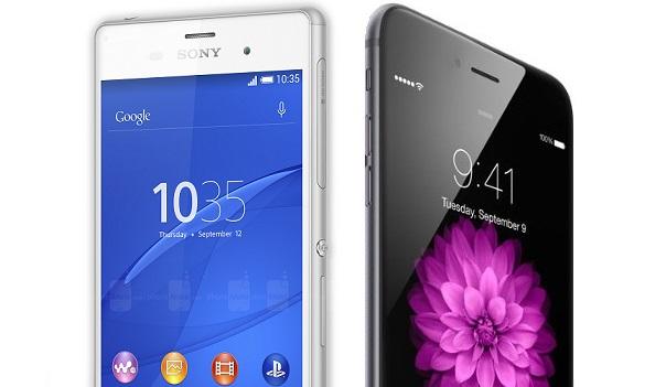 iphone 6 plus  vs xperia z3