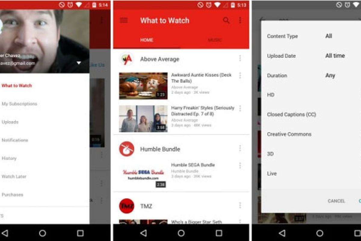 گوگل نسخه جدید اپلیکیشن یوتیوب را با زبان طراحی متریال دیزاین منتشر کرد (همراه لینک دانلود)