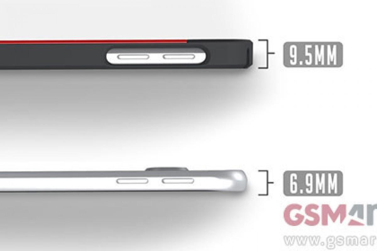 ضخامت گلکسی S6 نیز لو رفت: 6.9 میلیمتر