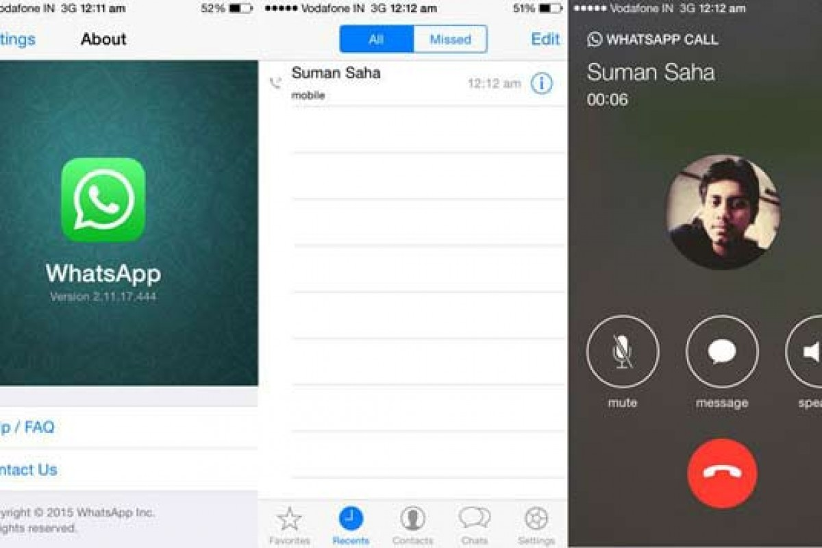 تماس صوتی واتساپ این بار در اختیار کاربران iOS است!