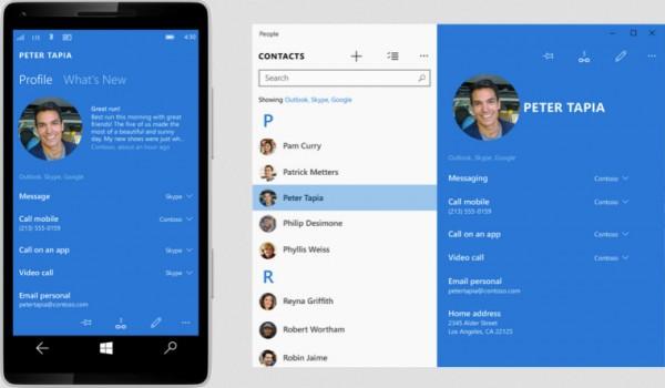 اپلیکیشن مخاطبان در ویندوز ۱۰ موبایل