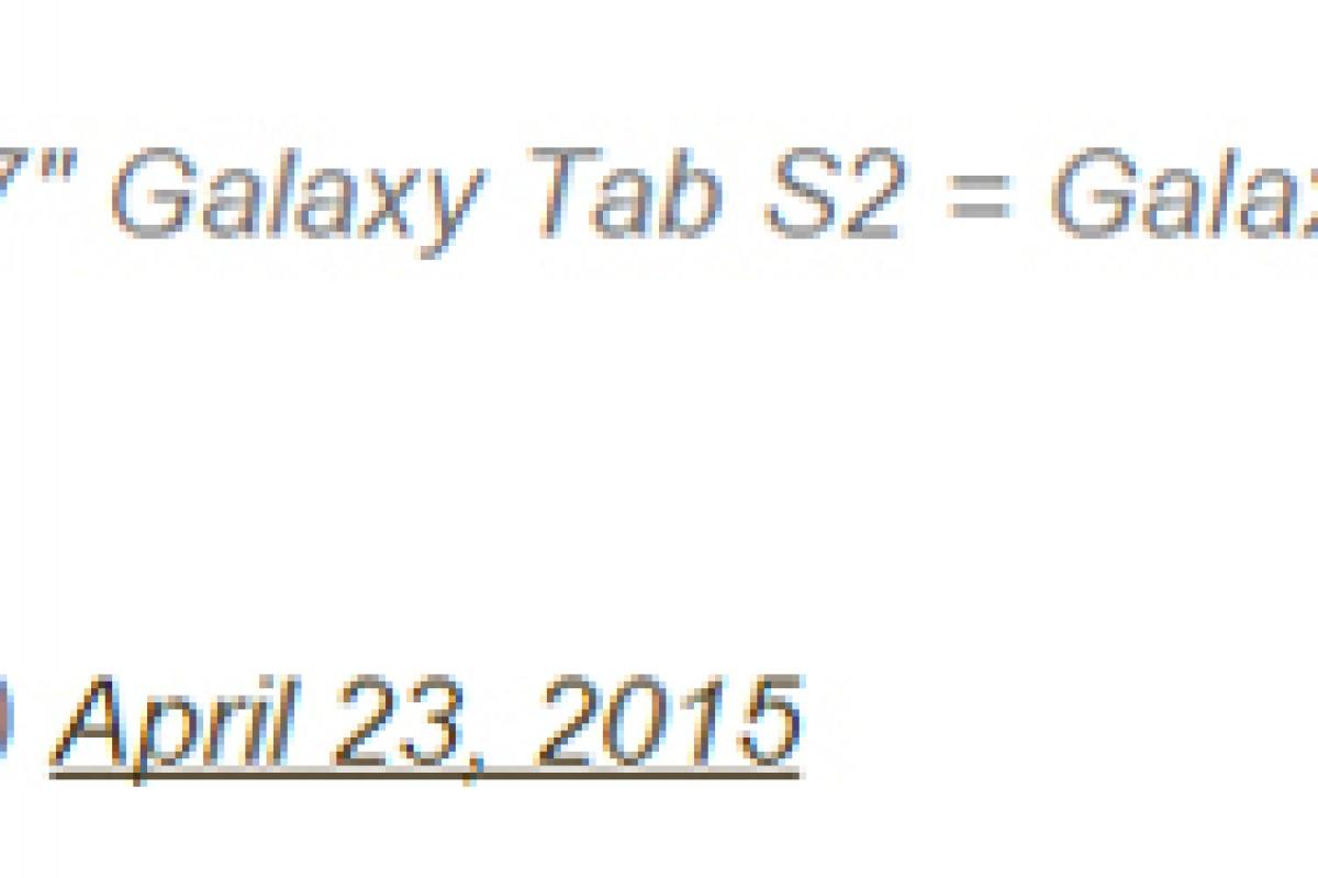 گلکسی تب S2 نازکترین تبلت تولیدی سامسونگ خواهد بود!
