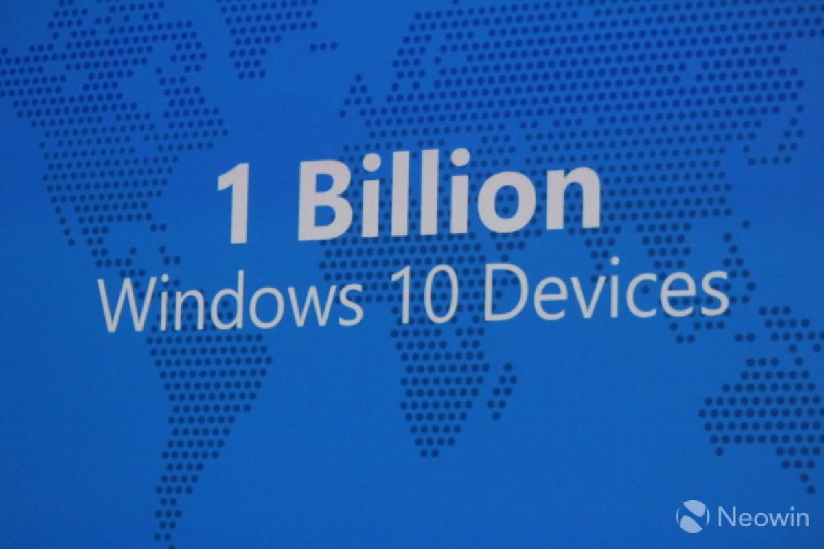 هدف مایکروسافت: رسیدن به یک میلیارد دستگاه با سیستم عامل ویندوز ۱۰