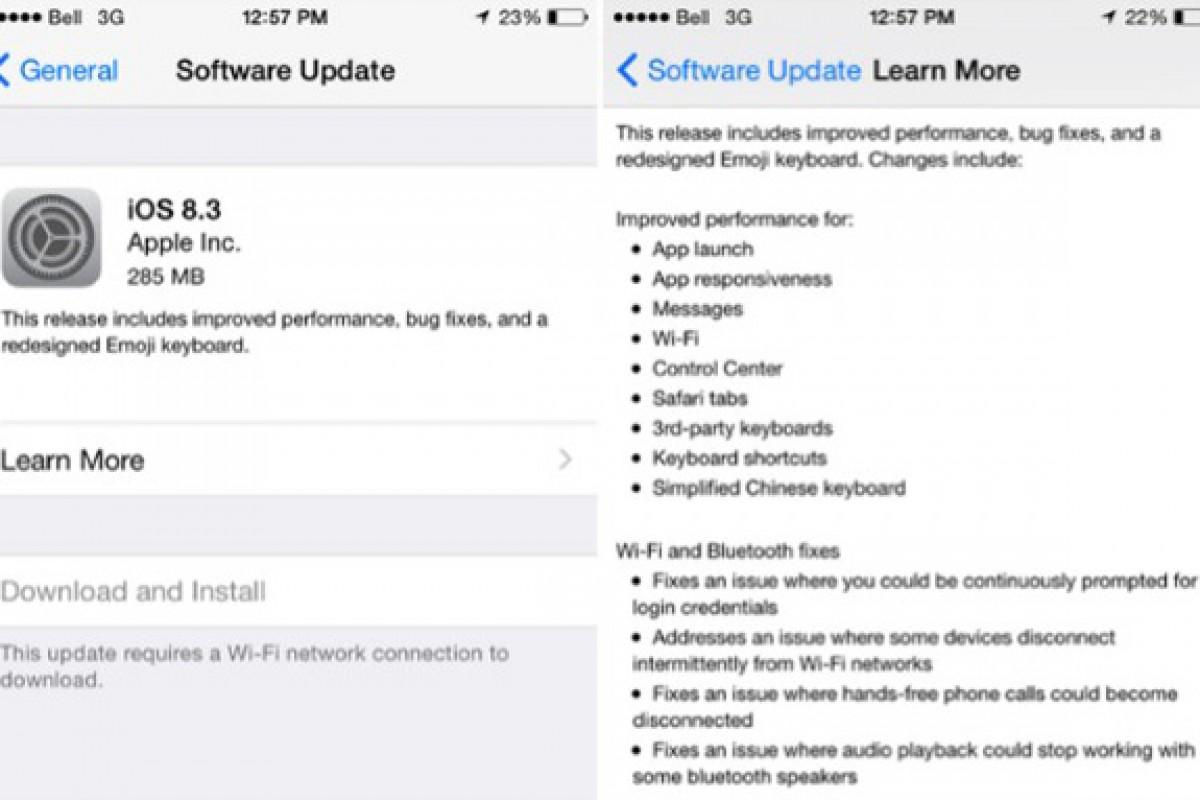 اپلیها، دستگاه خود را بهروز کنید، iOS 8.3 رسما منتشر شد!