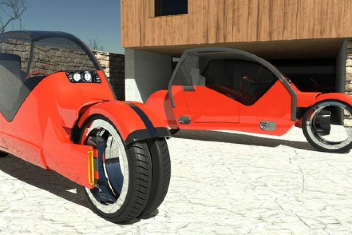 تصویر عجیبی از یک خودرو که تبدیل به دو موتور سیکلت میشود!