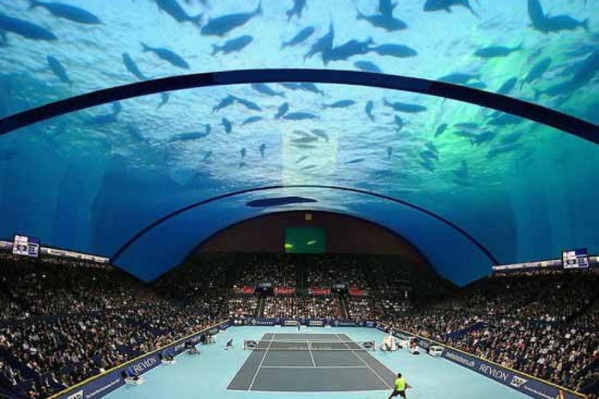 ساخت یک زمین تنیس در زیر آبهای خلیج فارس!