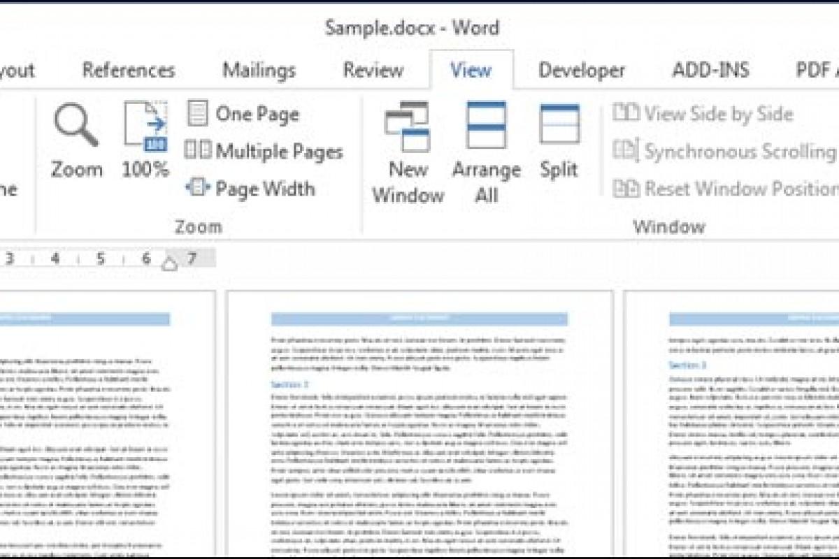 چگونه در برنامه Word چندین صفحه را در کنار یکدیگر نمایش دهیم؟