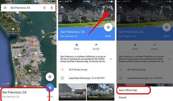 Google-Maps-offline-mode
