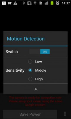 Motion-Detection-Android-only