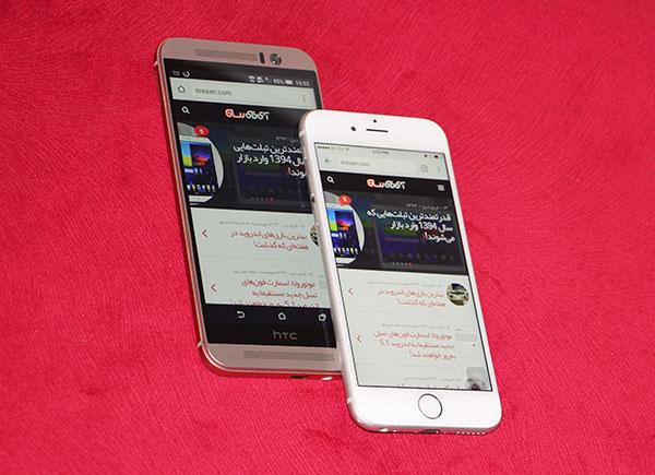 htc m9 vs iphone6 22