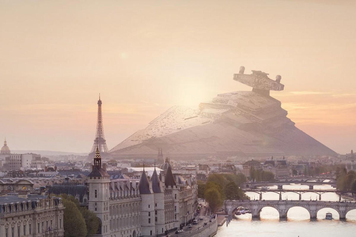 اگر سفینههای جنگ ستارگان در شهرهای بزرگ سقوط میکرد! (تصاویر)