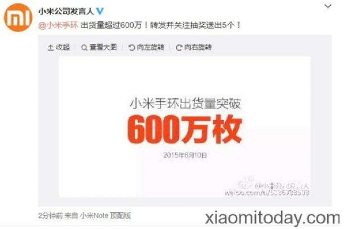 شیائومی: تا کنون بیش از ۶ میلیون دستبند هوشمند Mi Band فروختهایم