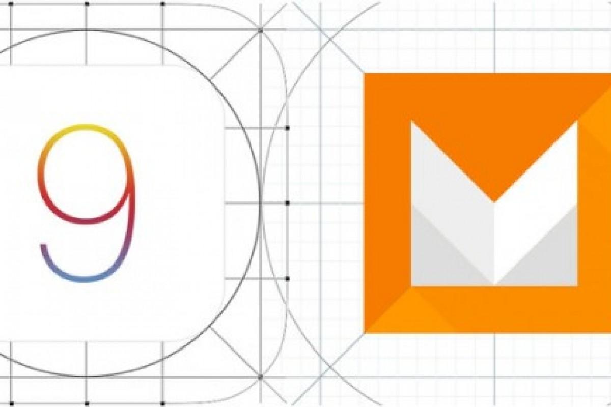 مقایسه تصویری iOS 9 و اندروید M