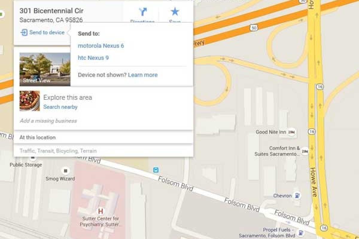 قابلیت جدید Google map: انتقال آدرس دقیق شما از PC به اسمارت فون!