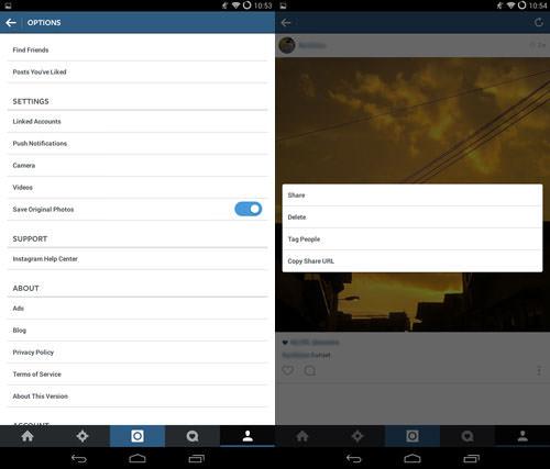 ذخیره  تصاویر پس از ارسال آنها/ ذخیره تصاویر مربوط به پستهای دیگران
