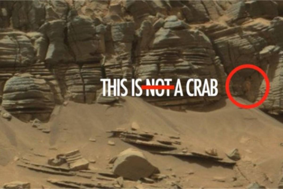 ناسا بر روی مریخ تصویری از اثر بیگانگان یافت که آن را اعلام نمیکند!