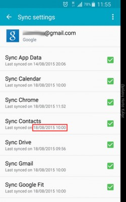 Check-contacts-sync