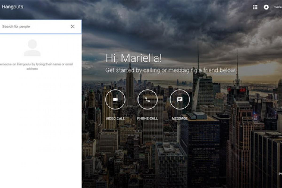 گوگل یک سایت مجزا برای پیامرسان Hangouts ایجاد کرد