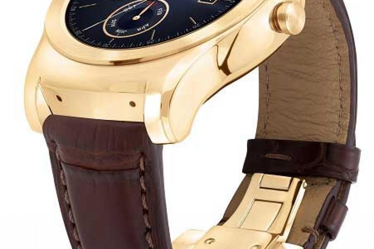 الجی Watch Urbane Luxe با بند چرمی و طلای 23 عیار عرضه میشود