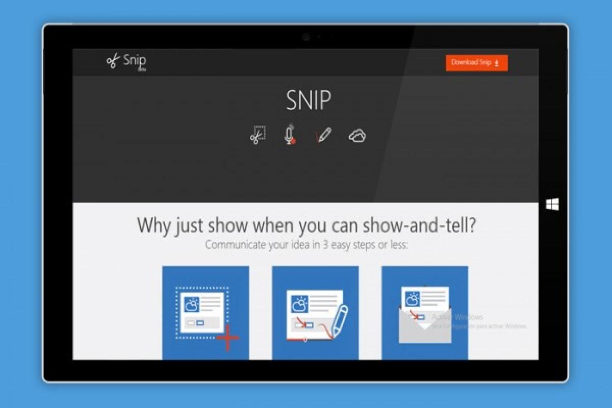 Microsoft Snip برنامهای برای ثبت اسکرینشات همراه با ضبط صدا