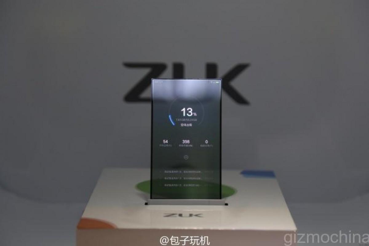 ZUK در تلاش است تا آینده گوشیهای هوشمند را با محصول صفحه شفاف خود متحول نماید!