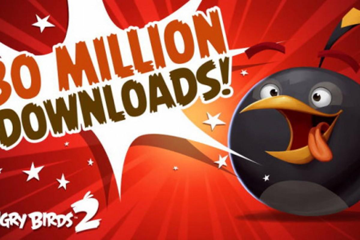 َAngry Birds 2 و ثبت رکورد ۳۰ میلیون دانلود تنها در دو هفته!
