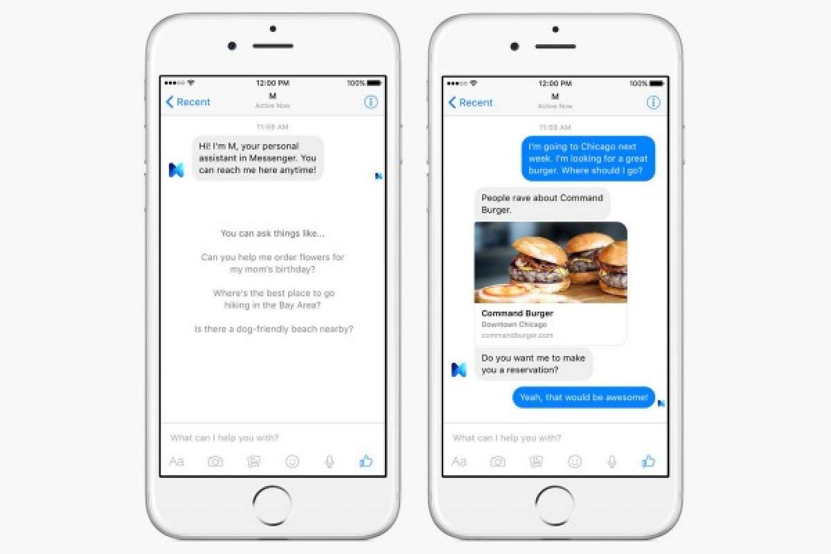 تبدیل مسنجر فیسبوک به یک دستیار مجازی با M