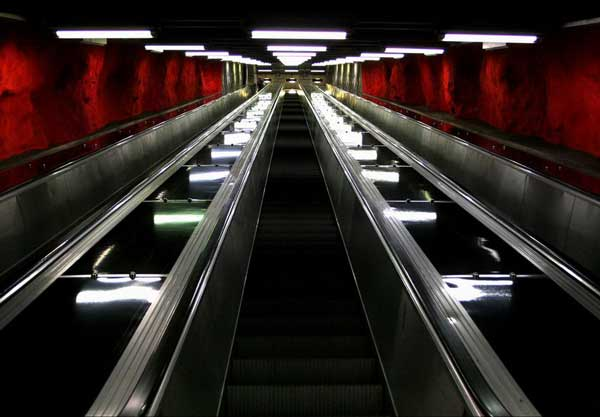 sweden-subway-escalator