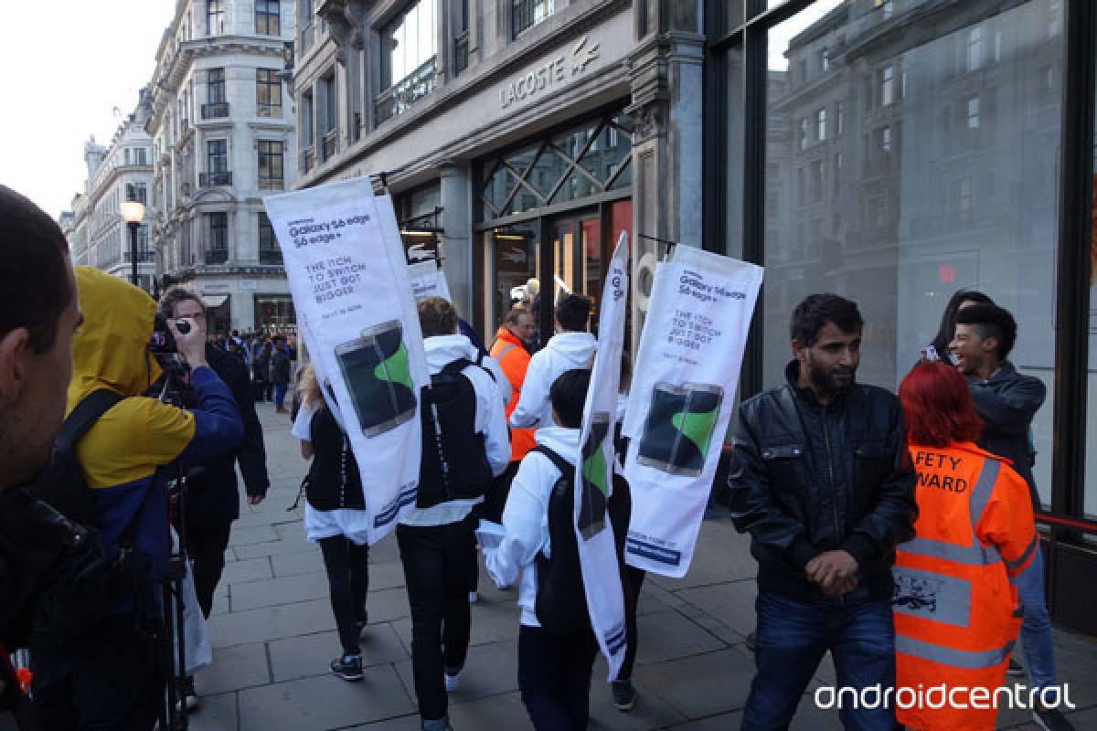 سامسونگ و تلاش برای خدشه دار کردن عرضه آیفون 6s در لندن!