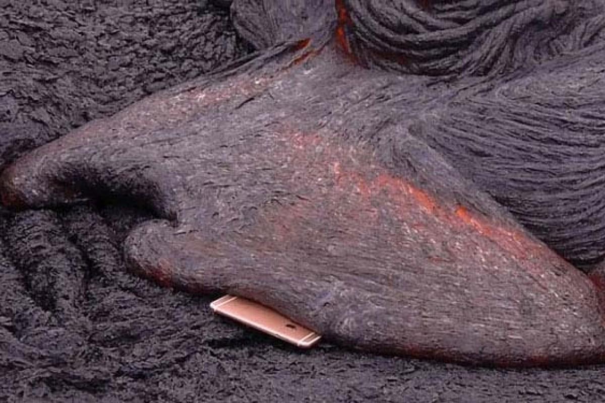 تست آیفون ۶s در مواد مذاب آتشفشانی!