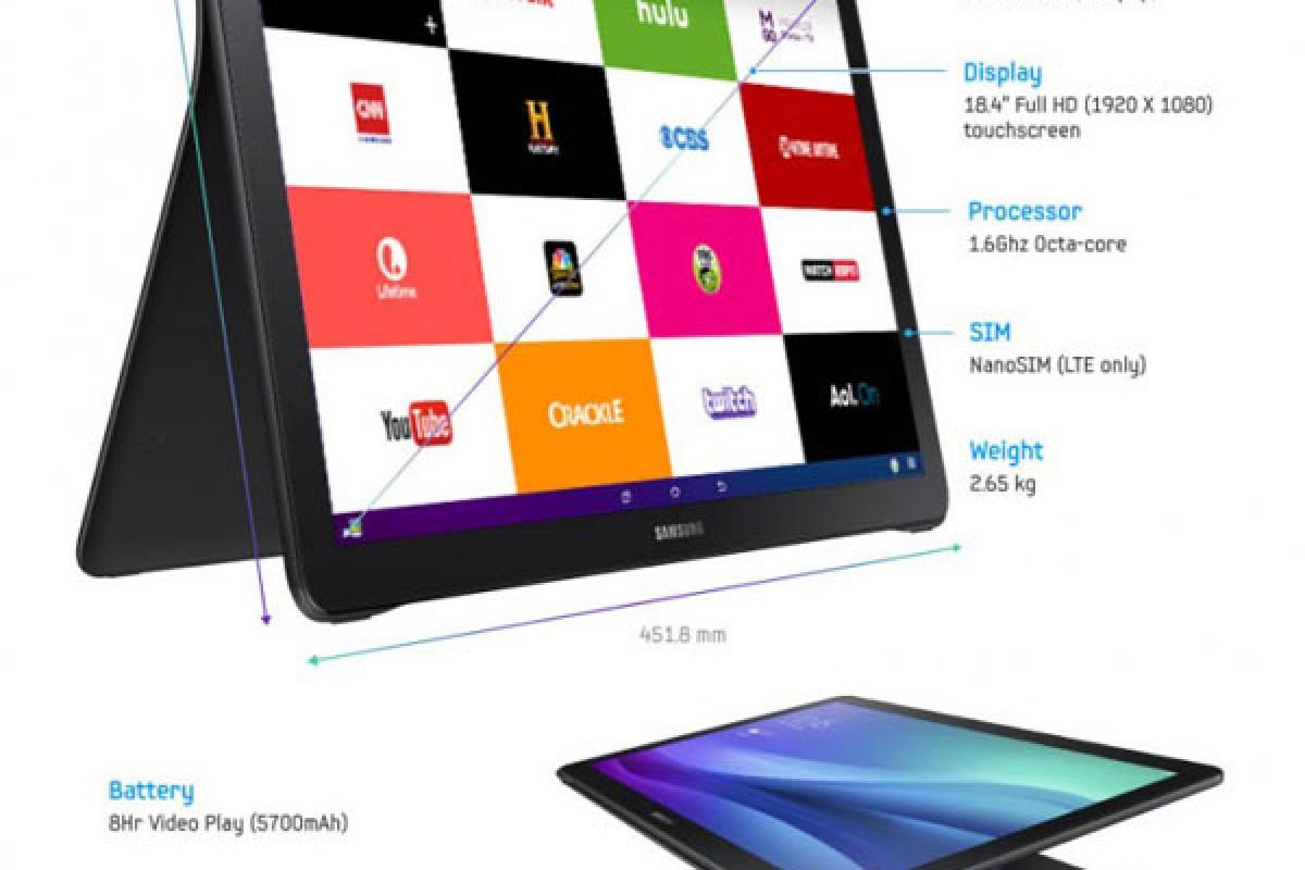 تبلت سامسونگ گلکسی View با نمایشگر 18.4 اینچی معرفی شد!