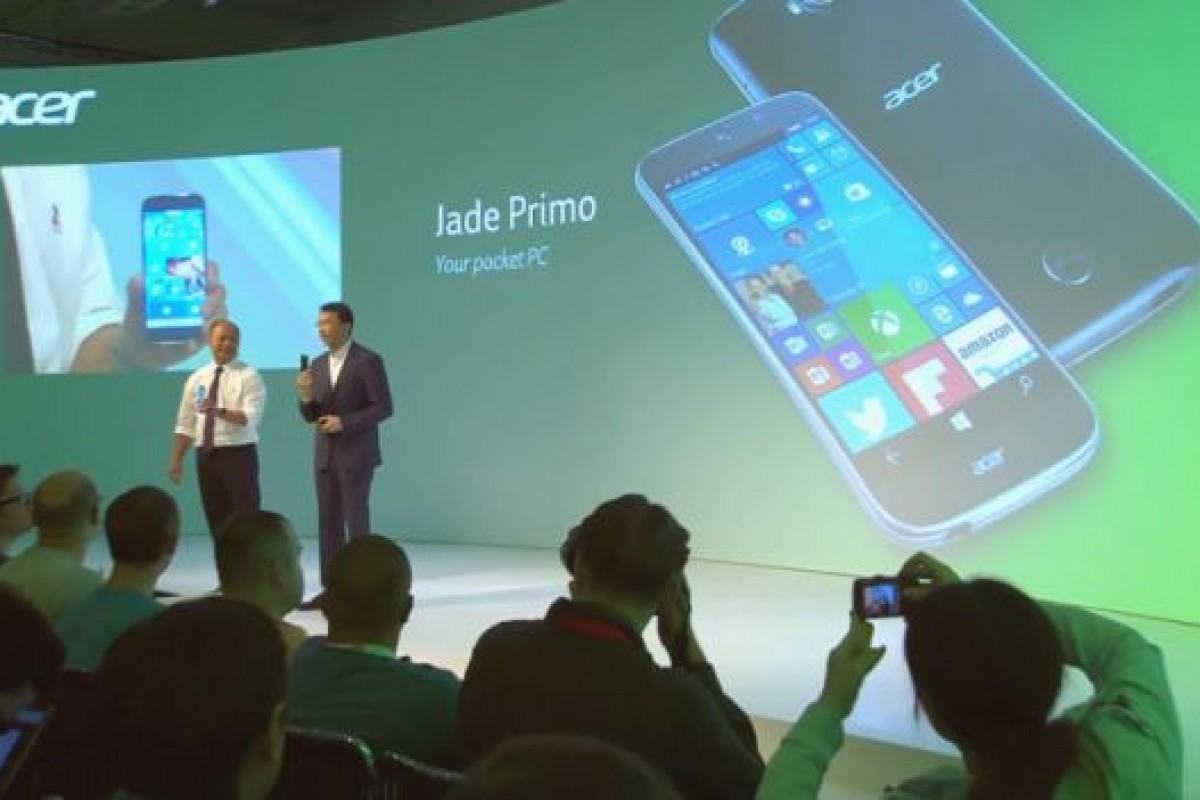 گوشی ویندوزی ایسر Jade Primo دارای بهایی پایین و رقابتی است