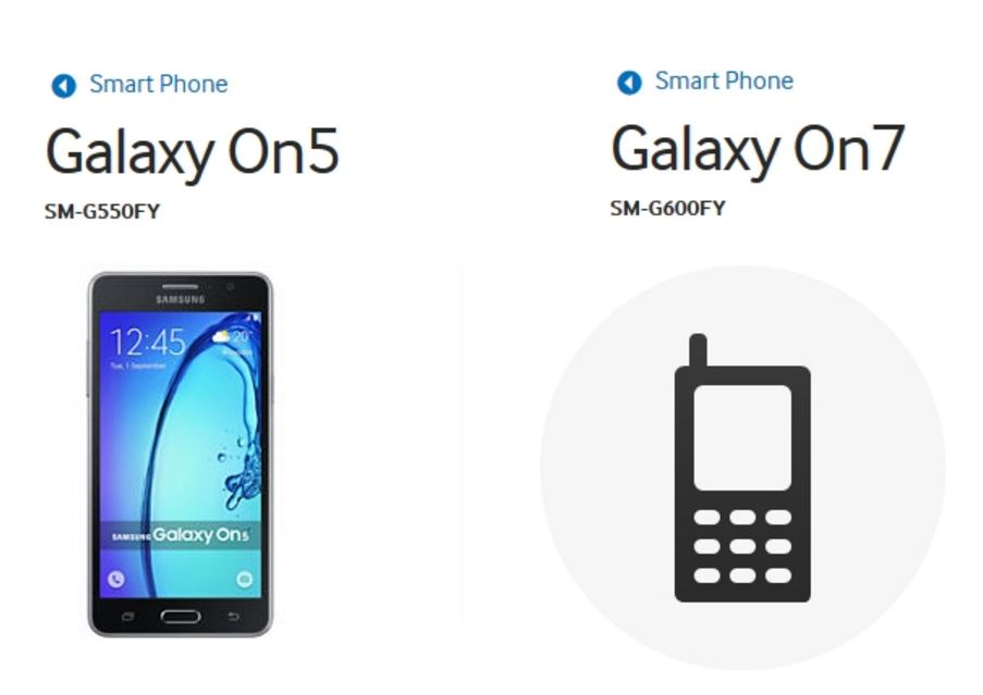 galaxy on5 and on7