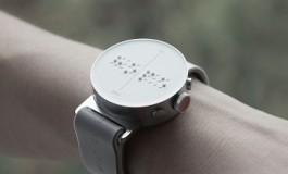 این ساعت هوشمند شیک و زیبا برای نابینایان طراحی شده است