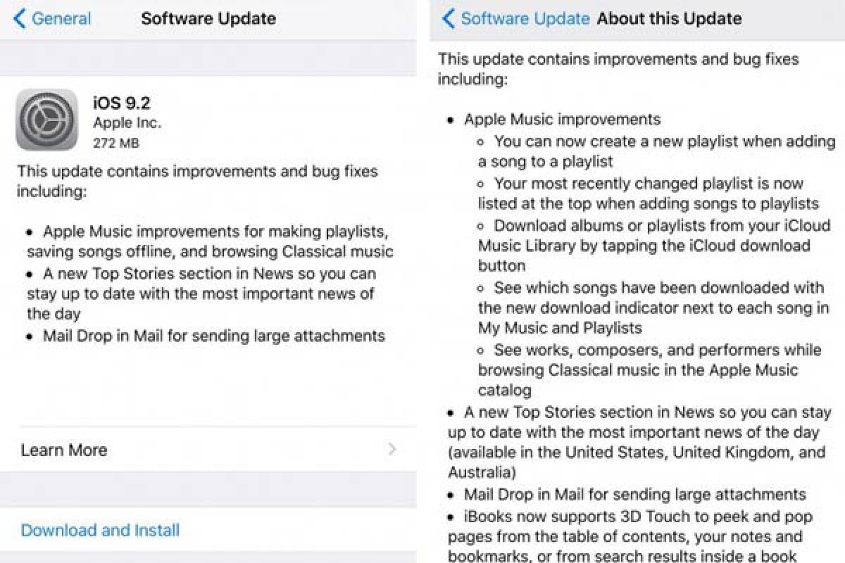 نسخه 9.2 از iOS برای دستگاههای اپل منتشر شد