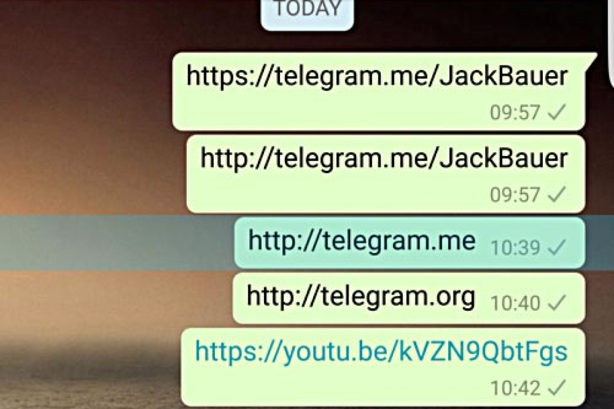 واتساپ در نسخه اندرویدی لینکهای تلگرام را بلاک میکند!