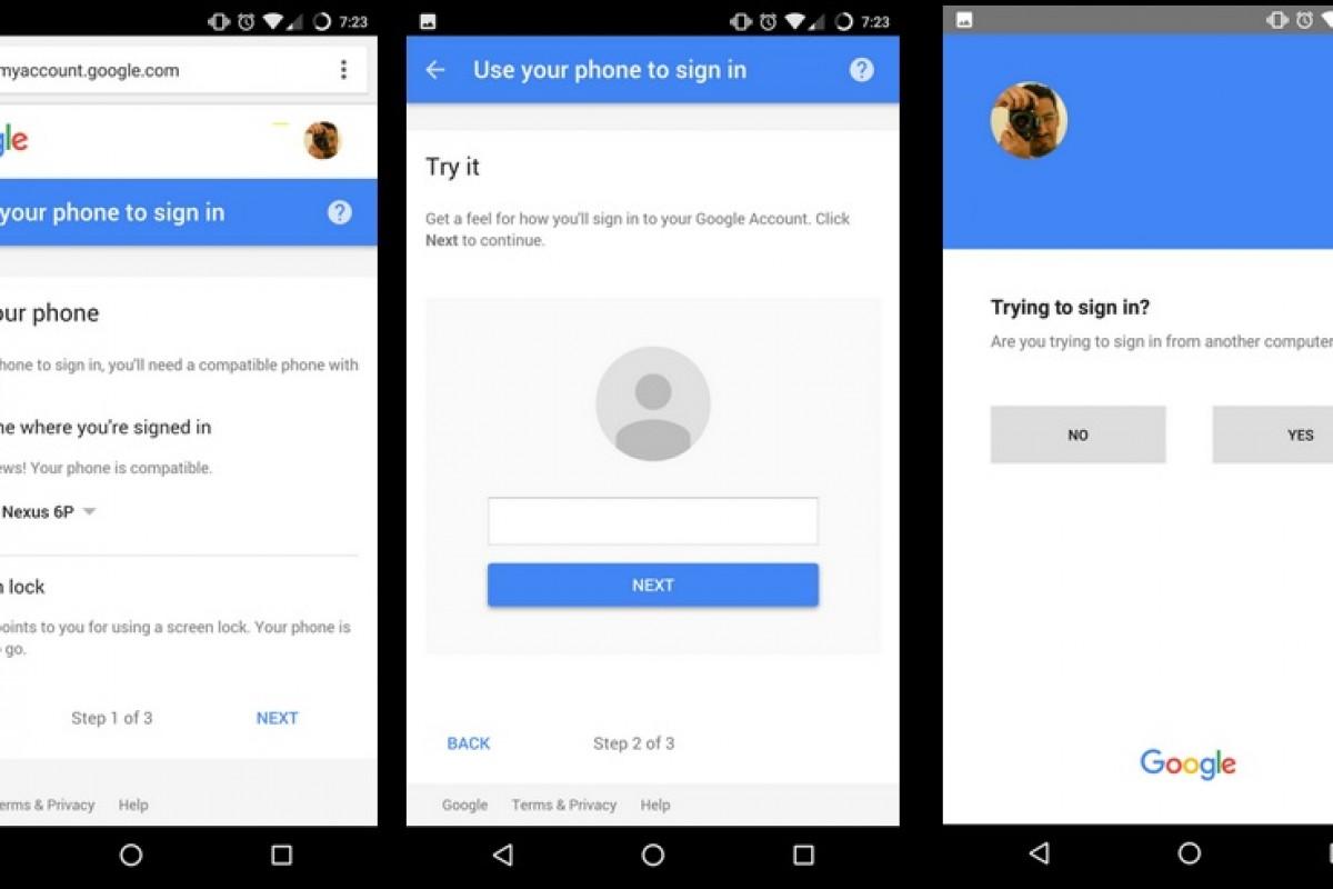 استفاده از تلفن همراه بهجای رمز برای ورود به حساب کاربری گوگل