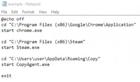 فایل نهایی متنی برای تنظیم اجرای برنامهها