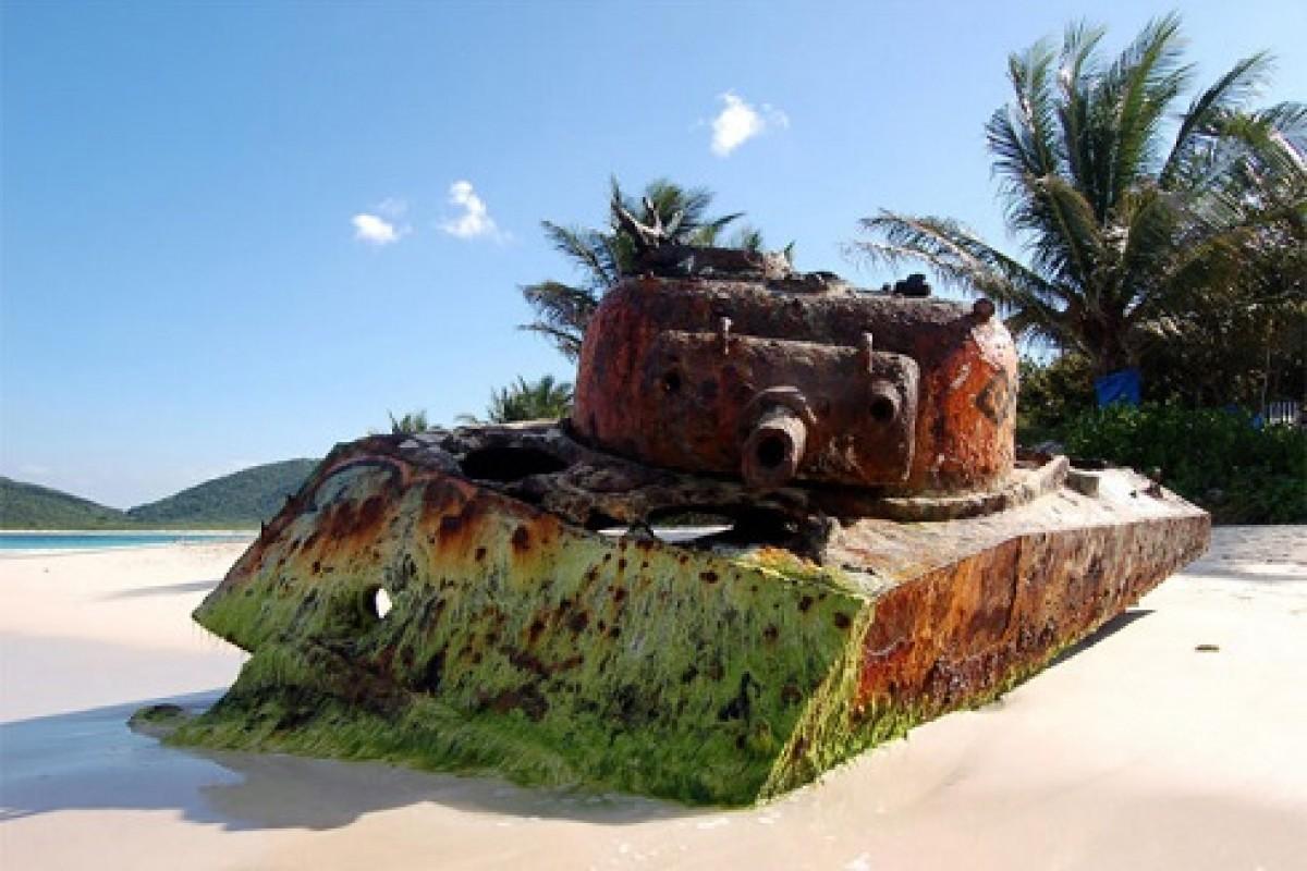 آثار طبیعی زیبایی که از تانکهای جنگی رها شده در طبیعت ایجاد شده است