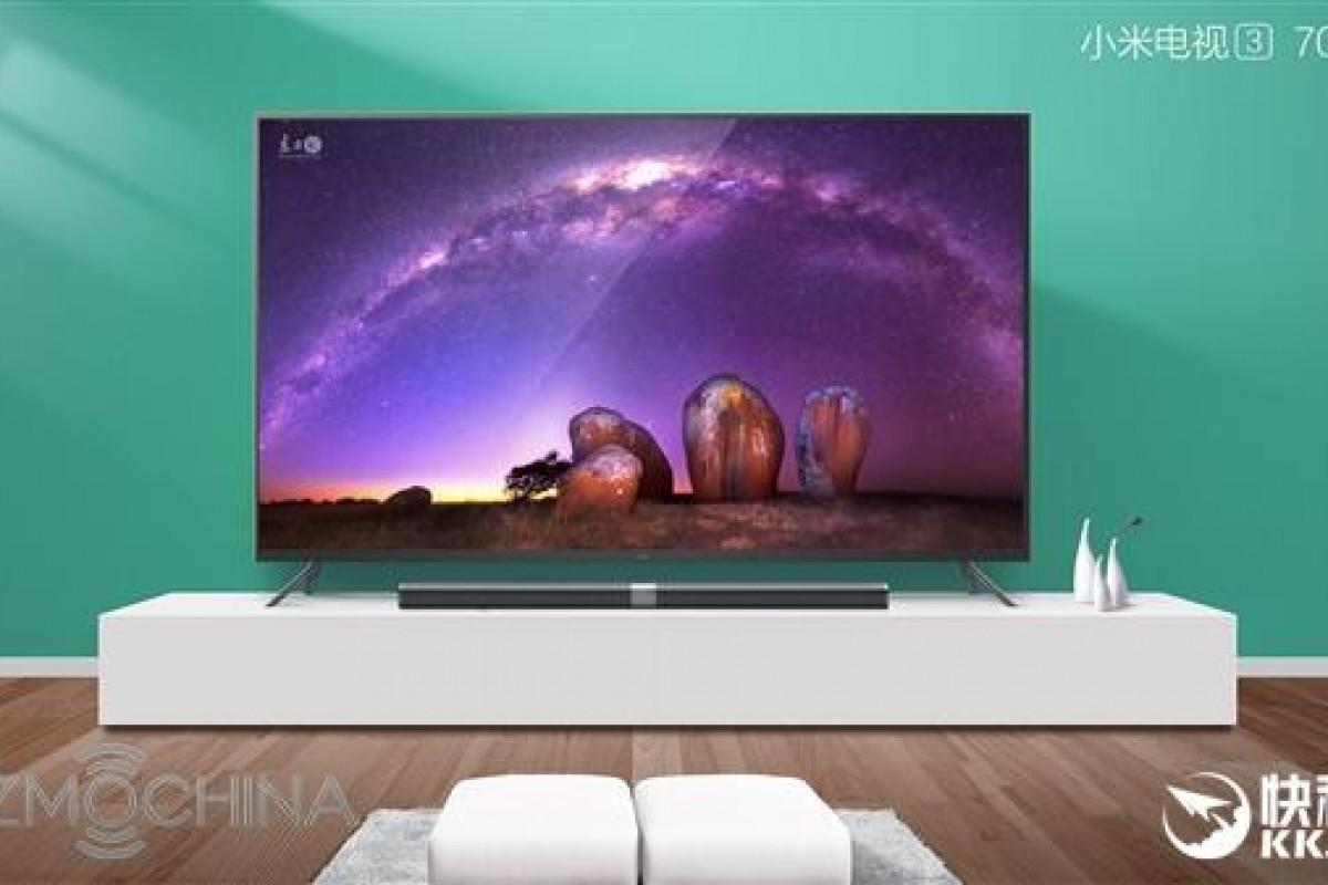 رونمایی شیائومی از تلویزیون 70 اینچی Mi TV 3