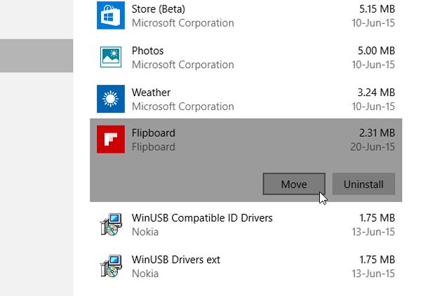 انتقال برنامهها به درایو دیگر در ویندوز 10