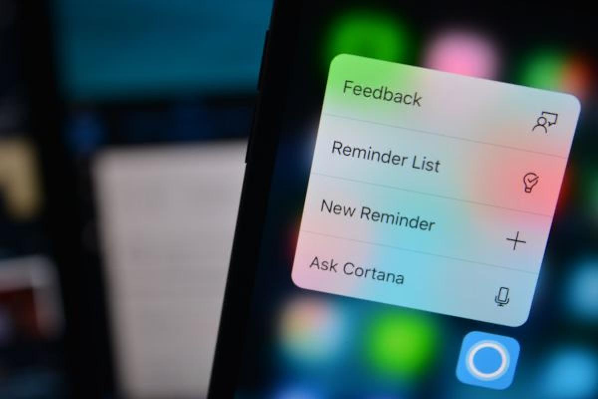بروزرسانی نسخه iOS کورتانا با قابلیت پشتیبانی از لمس سهبعدی
