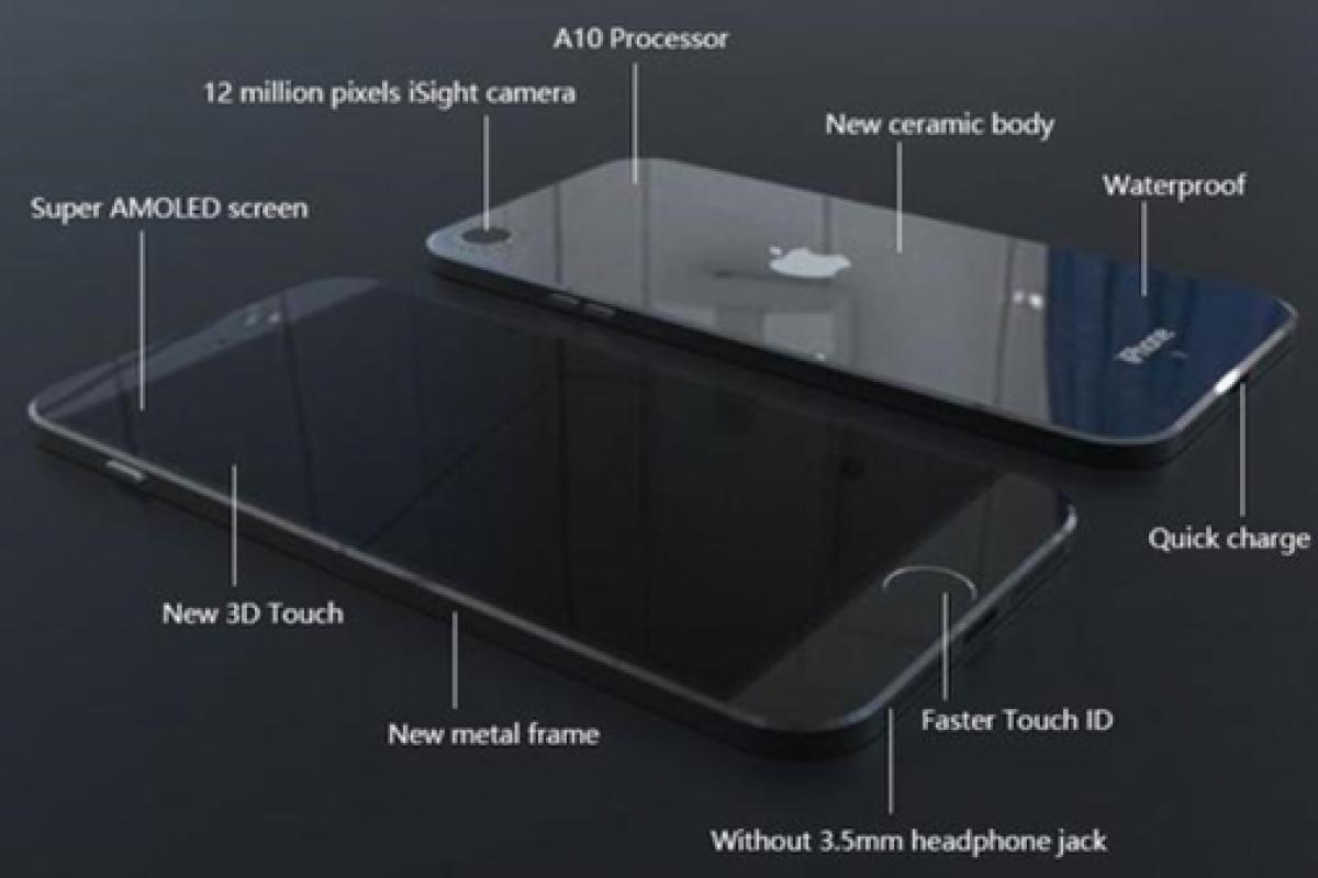 انتشار رندری جدید از آیفون 7 که خبر از بدنه سرامیکی و ضد آب بودن آن میدهد!