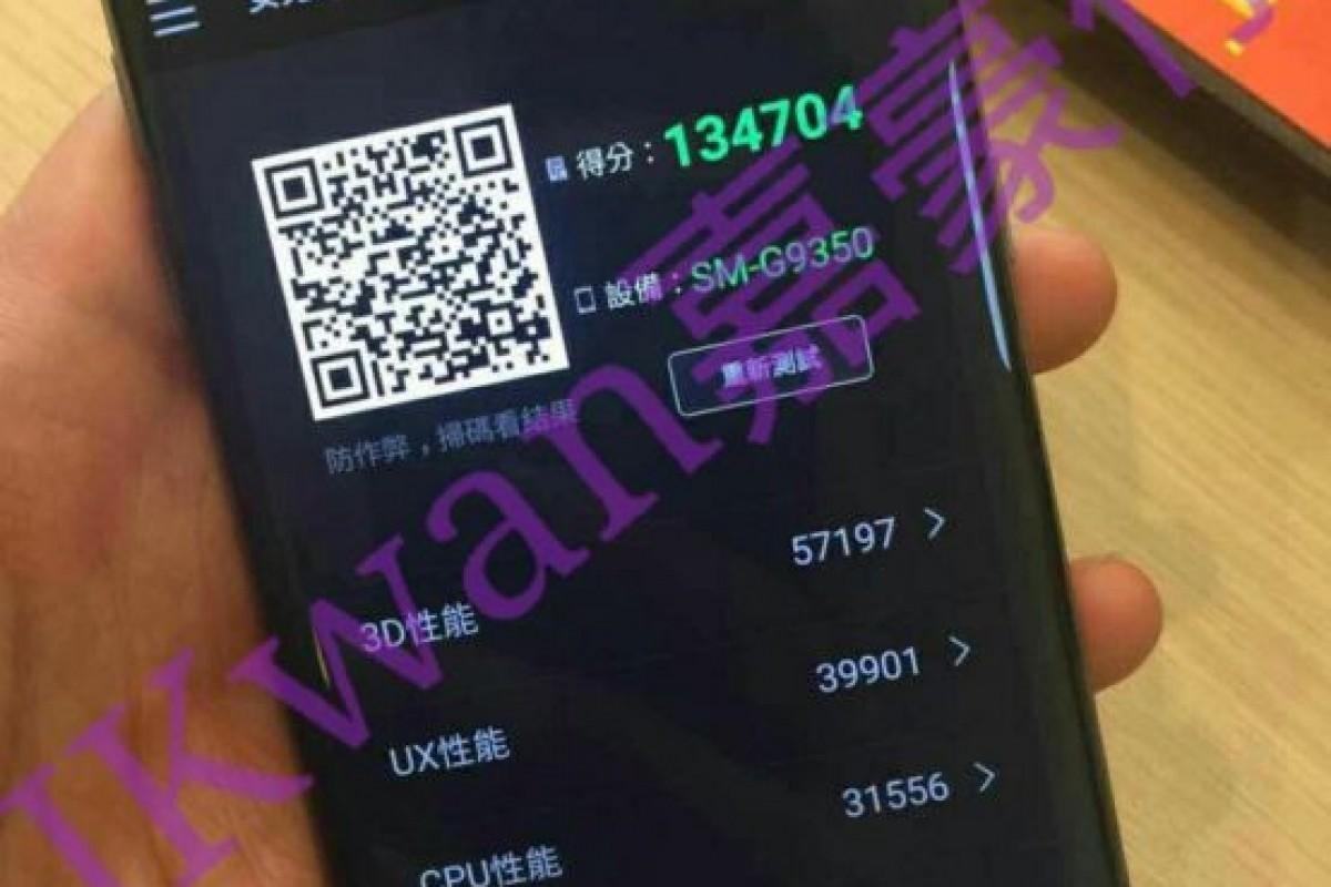 تصویر واقعی گلکسی S7 Edge و کسب امتیاز ۱۳۴ هزاری در AnTuTu