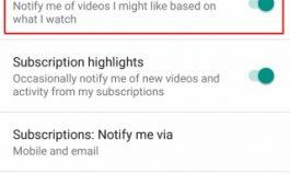 چگونه نوتیفیکیشنهای Recommended Videos را در اپلیکیشن یوتیوب غیرفعال کنیم؟